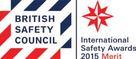 BSC International Safety Award 2015 with Merit