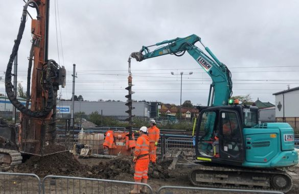 Brent cross piling